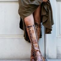 Free People Glastonbury Lace-Up Boot