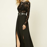 Semi-Sheer Lace Maxi Dress