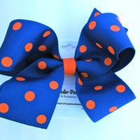 Girls Orange and Blue Polka Dots Auburn Tigers by LeCoqADoodleDoo