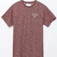 Diamond Supply Co - Garnet Brilliant Speckle Crew T-Shirt - Mens Tee - Maroon