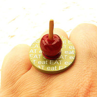 Candy Apple Eat Ring by SouZouCreations on Etsy