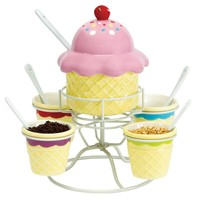 Boston Warehouse Ice Cream Social Topping Spinner Set