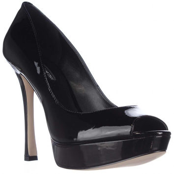 BCBGeneration Sasha Peep-Toe Platform Pumps - Black