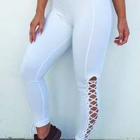 Go For It Pants: White