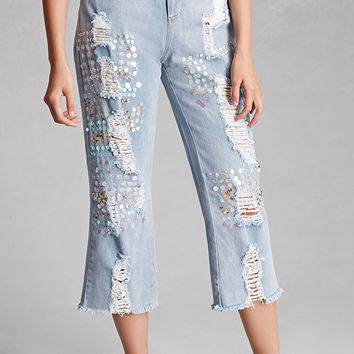 Rehab Frayed Ankle Jeans