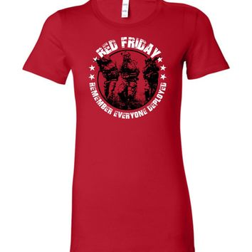 RED Friday Ladies Tee Shirt