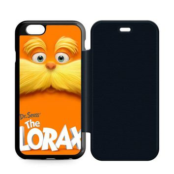 Dr Seuss Lorax Face Leather Wallet Flip Case iPhone 6 | 6S