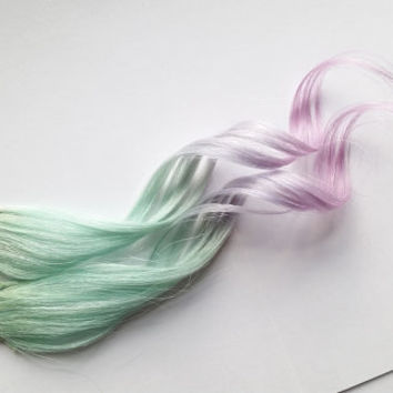 Pastel Dreamer Clip in Ombre 100% Human Hair Extensions Dip Dyed Pastel Pink Purple Teal Green Mint