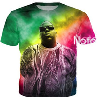 Women Men Fashion Clothing Sport Tops Tie Dye tees Notorious B.I.G. Biggie Smalls 2Pac Tupac 3d T-Shirt Summer Style Plus Size