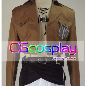 Cool Attack on Titan Hot Sale!  no  Cosplay costume Eren Jaeger Japanese Anime Cosplay Halloween Christmas Party AT_90_11