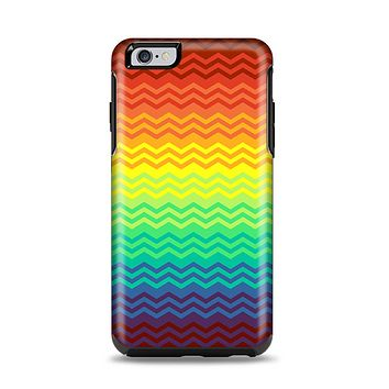 The Rainbow Thin Lined Chevron Pattern Apple iPhone 6 Plus Otterbox Symmetry Case Skin Set