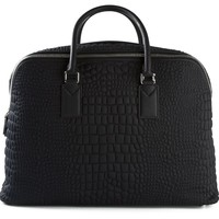 Fendi embossed crocodile effect holdall
