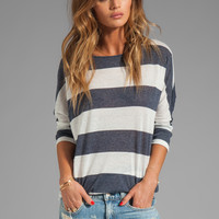 Soft Joie Sagittarius Stripe Top in Porcelain/Peacoat from REVOLVEclothing.com