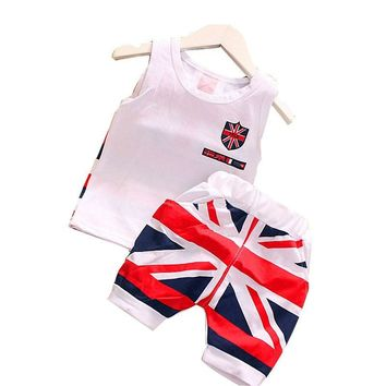 UK British Tank Top and Shorts Set