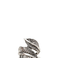 Down-To-Earth Feather Ring