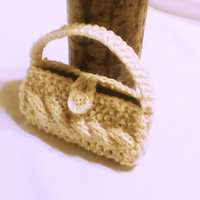 White knit cell phone purse knit cell cozy cell phone sock iphone 5 sweater knit cover Mobile accessory Mobile gadget iphone touch sleeve