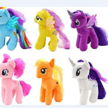 18cm minecraft my cute lovely little horse Plush toys poni doll toys for Children Funko POP Toys free shipping