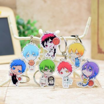 Kuroko no Basket acrylic Keychain Pendant Car Key  Accessories Cute Japanese Cartoon Kuroko's Basketball 7 Styles SS229-235 XS-2