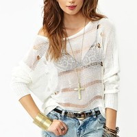 Asymmetric Shredded Knit in Clothes Tops Sweaters at Nasty Gal
