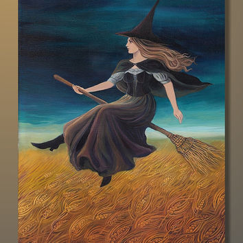 Barley Witch Victorian Pagan Goddess 5x7 Greeting by EmilyBalivet