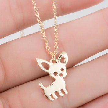 Hfarich I Love My Dog Chihuahua Pet Pendant Necklaces for Women Pet Animal Dog Necklace Collares Jewelry Gifts Bijoux Dropship