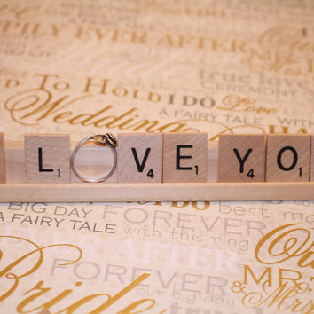 I Love You - Engagment Ring Holder