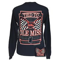 SALE Mississippi Ole Miss Rebels Tied To Prep Bow Long Sleeve T Shirt