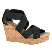 Black Darcy Stretch Wedge - Black