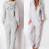 Orecchiette hooded fashion Jumpsuits