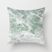 birds over the ocean Throw Pillow by Marianna Tankelevich | Society6
