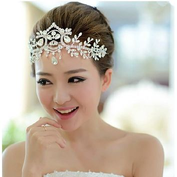 Angel Headband Wedding Crystal Hair