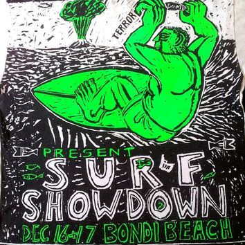ON SALE MAMBO Australia Surfing Surf Showdown Bendi Beach Hawaiian tee t shirt