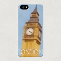 London Big Ben Watercolour Style Tourist British iPhone 4 4s 5 5s 5c Samsung Galaxy S3 S4 Case