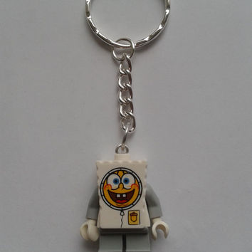 Spongebob  astronaut keychain keyring  made with LEGO®   minifigure