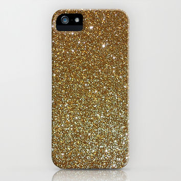Gold Glitter iPhone & iPod Case by LookHUMAN