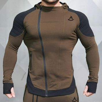 Gyms Autumn Bodybuilding Men Hoodies Fitness Joggers Sporting Wear Hooded Sweatshirts Workout Slim Fit Male Coat Dropshipping