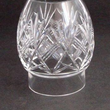 Hand Cut Glass lamp shade globe