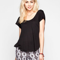 Life Clothing Co. Womens Twist Back Top Black  In Sizes