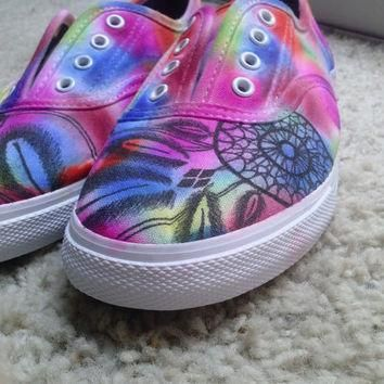 Customized Vans shoes. Any color or tie dye.