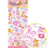 Bunny Rabbit Chipmunk and Kitty Cat Shaped Stickers for Scrapbooking