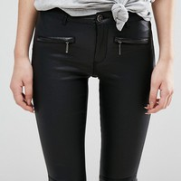 Only Natalie Coated Biker Pants at asos.com
