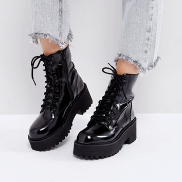 Sixtyseven Chunky Sole Lace Up Boots at asos.com
