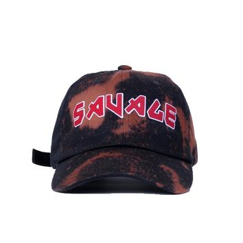 Savage Vintage Tour Dad Hat (Bleach Stain/ Black)