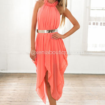 Princess Diaries Maxi Dress (Coral)