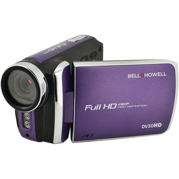 Bell+howell 20.0-megapixel 1080p Dv30hd Fun Flix Slim Camcorder (purple)