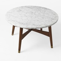 Reeve Mid-Century Coffee Table - Marble