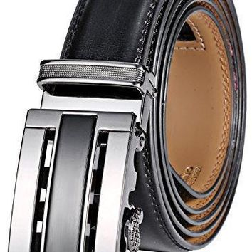 Marino Men¡¯s Genuine Leather Ratchet Dress Belt With Automatic Buckle, Enclosed in an Elegant Gift Box