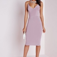 SLINKY MIDI DRESS MAUVE