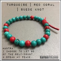 CONFIDENCE | Turquoise | Red Coral Bracelet