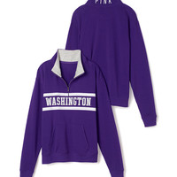 University of Washington Boyfriend Half Zip